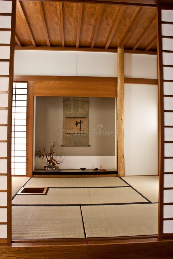 Quarto japonês imagem de stock