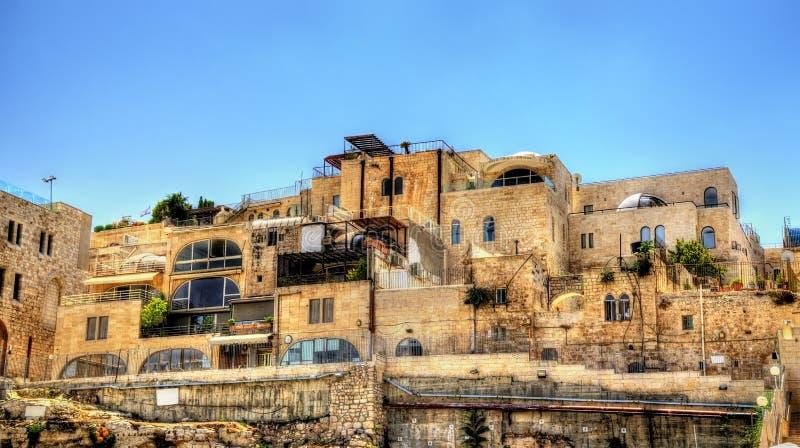Quarto judaico na cidade velha do Jerusalém fotografia de stock