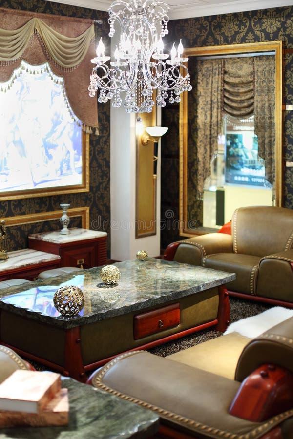 Quarto luxuoso no estilo clássico imagens de stock royalty free