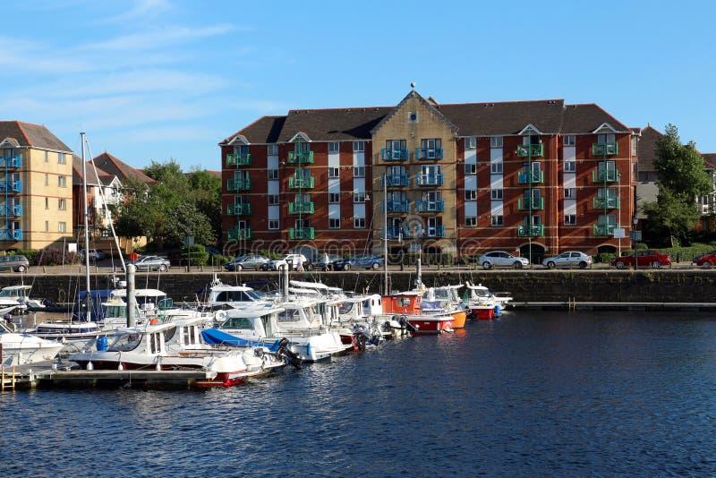 Quarto marítimo da cidade de Swansea, Gales, Reino Unido fotografia de stock royalty free