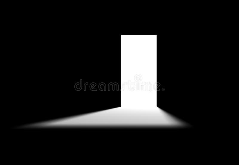 Quarto preto ilustração do vetor