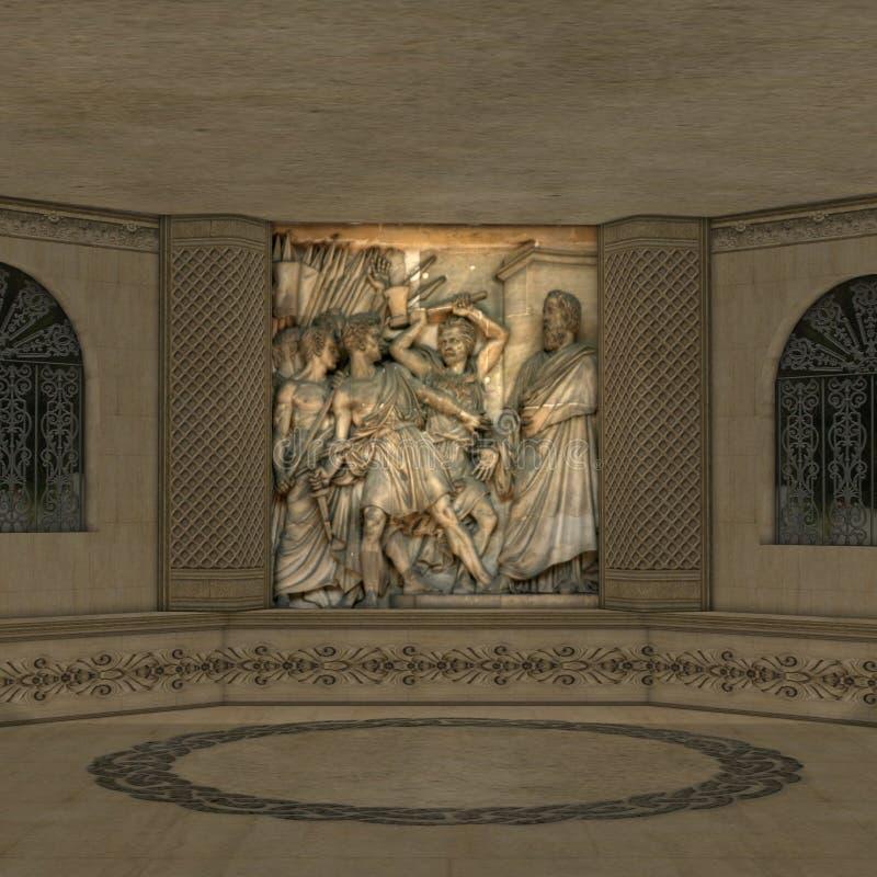 Quarto ritual Mystical ilustração royalty free
