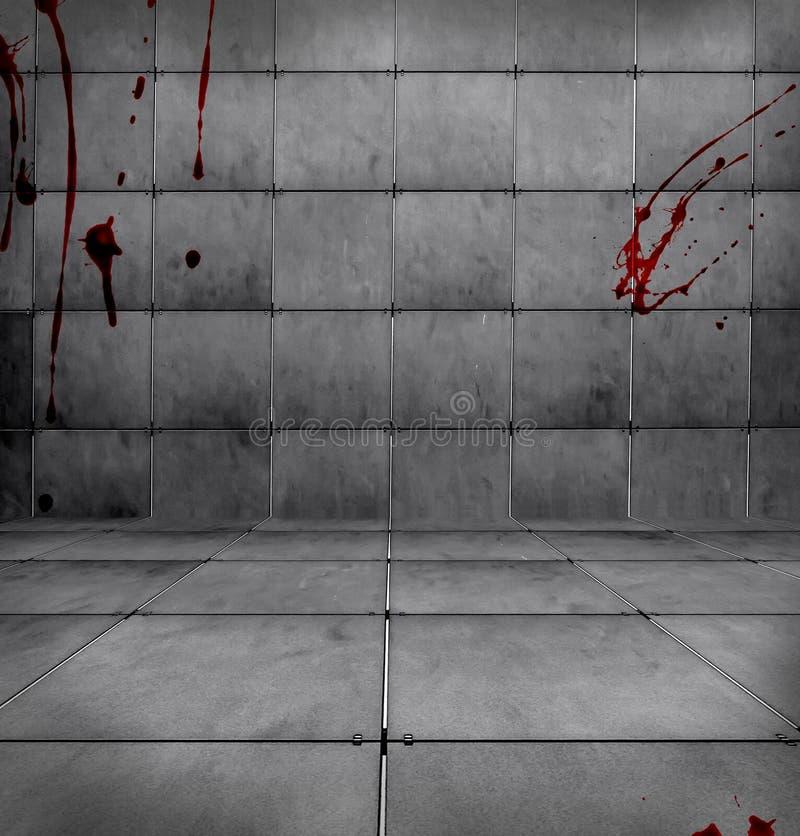 Quarto sangrento escuro ilustração do vetor