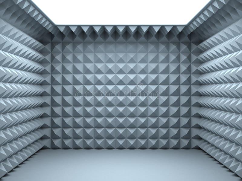 Quarto soundproof vazio ilustração do vetor