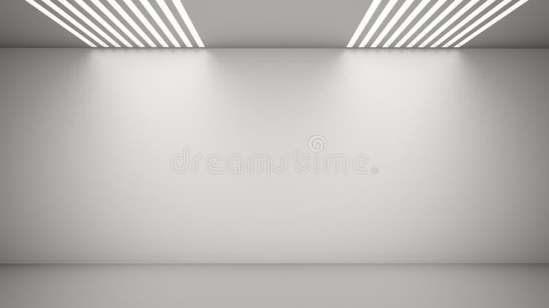 Quarto vazio com luz de acima ilustração stock