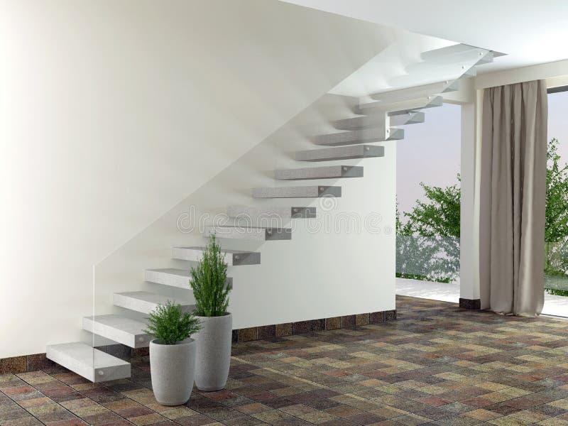 Quarto vazio Design de interiores ilustração do vetor