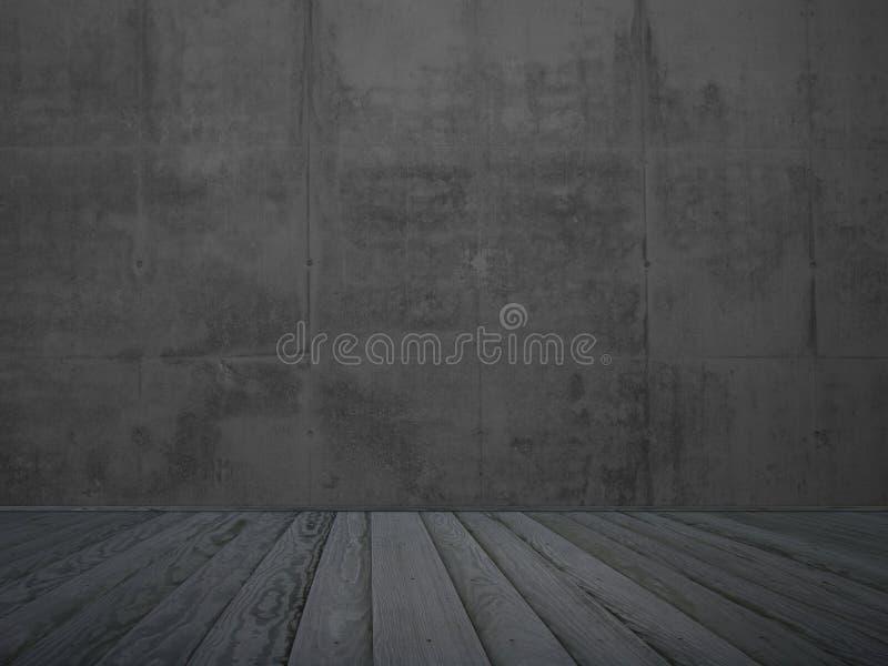 Quarto vazio do grunge ilustração do vetor