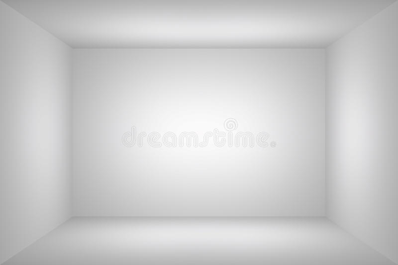 Quarto vazio simples branco ilustração royalty free