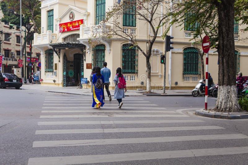 Quarto velho de Hanoi fotografia de stock royalty free