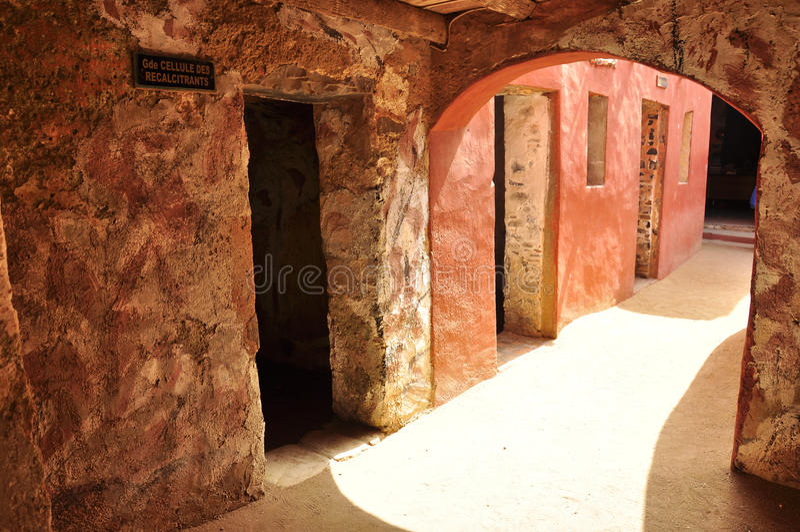 Quartos dos escravos, casa dos escravos, senegal imagens de stock royalty free