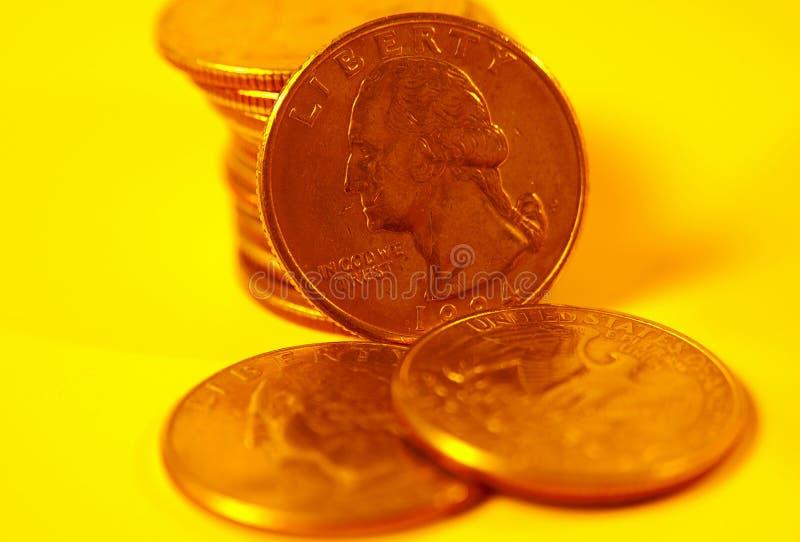 Quartos Em Goldtone Imagens de Stock Royalty Free
