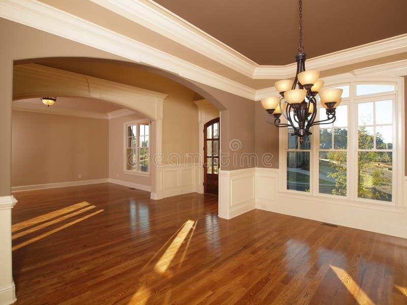 Quartos interiores Home luxuosos modelo da entrada dianteira fotografia de stock royalty free