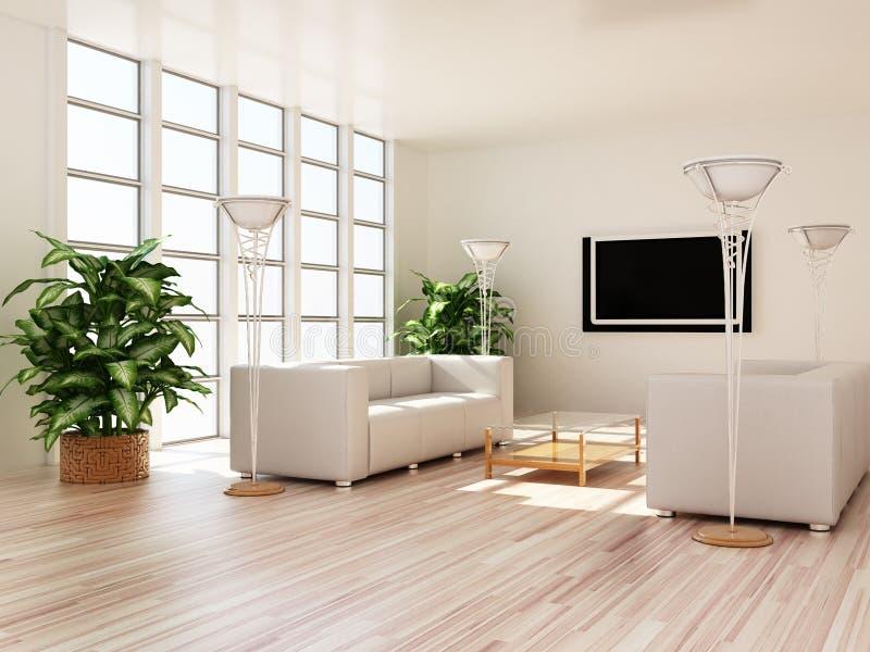Quartos modernos interiores ilustração royalty free