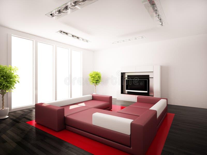 Quartos modernos interiores ilustração do vetor