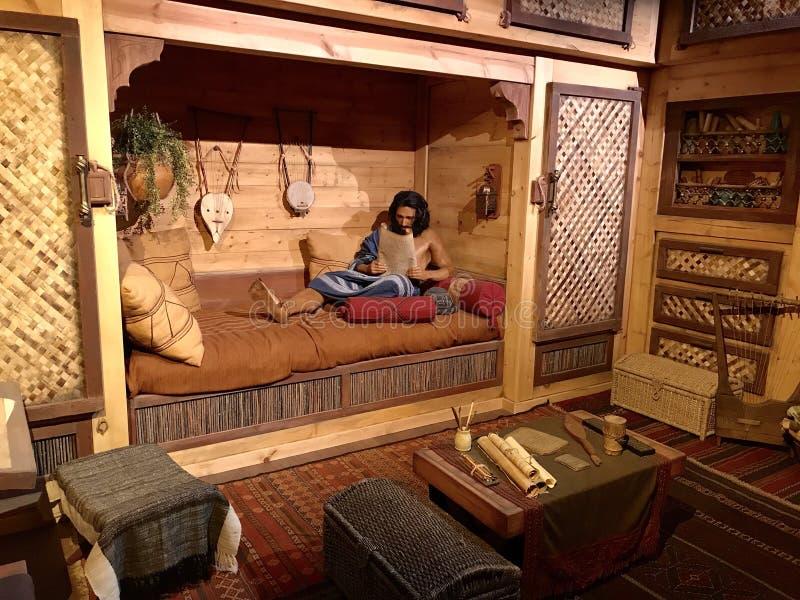 Quartos vivos na arca no parque temático do encontro da arca foto de stock