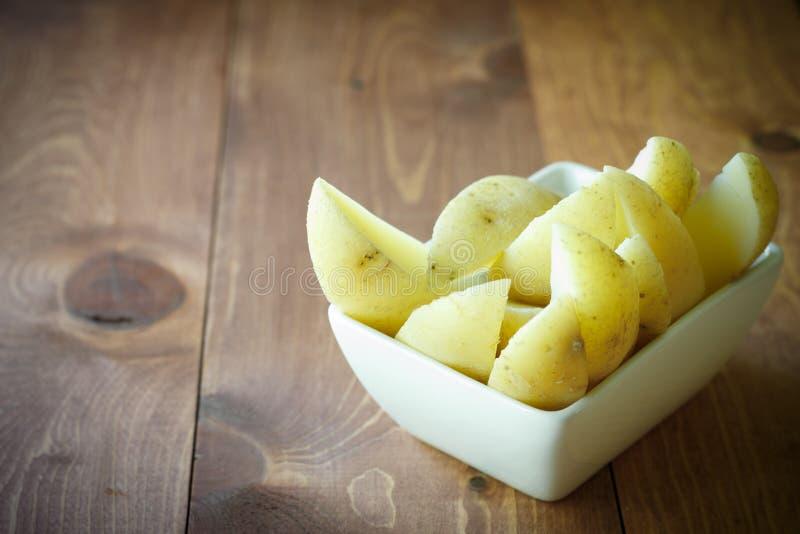 Quarts de pomme de terre photographie stock libre de droits