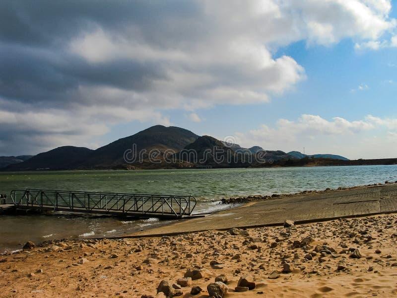 Quarts Mountain Lake and Mountains royalty free stock photo