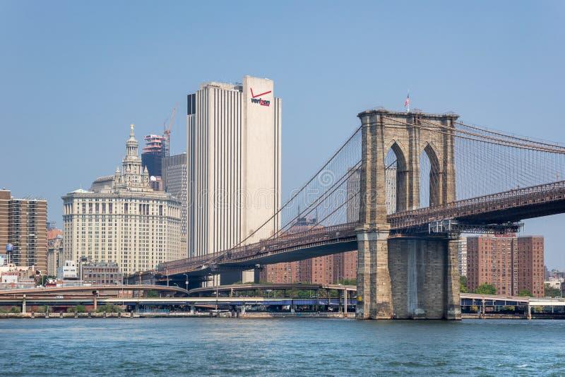 Quarts principaux de Verizon à New York City image libre de droits