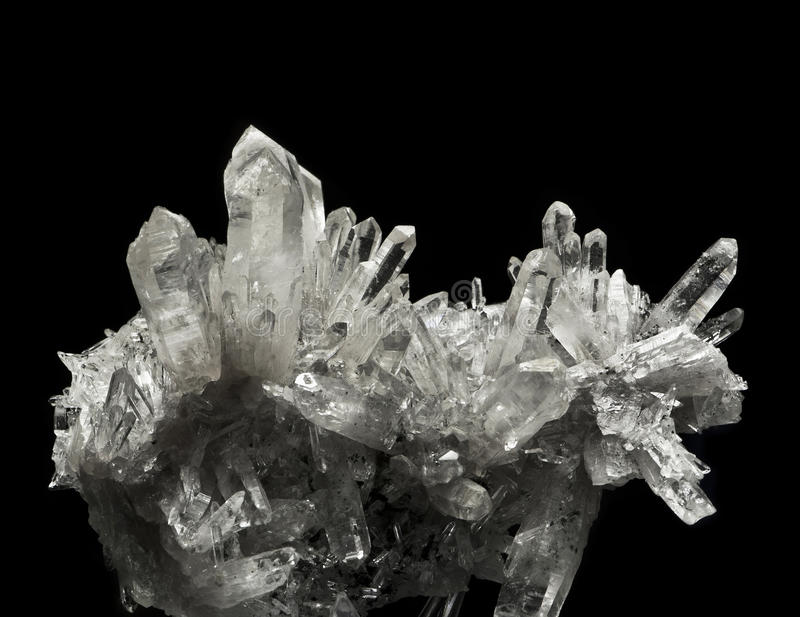 Quartz crystals royalty free stock image