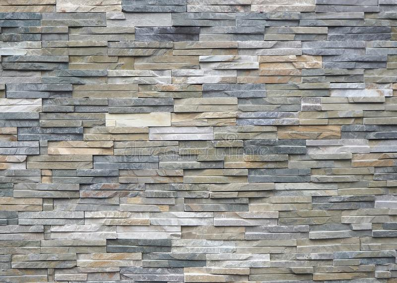 Quartzite natural stone cladding for external walls. Background and texture.  stock photo