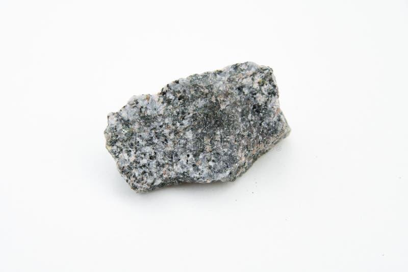 Quarz Dioritestein lokalisiert über Weiß lizenzfreie stockbilder