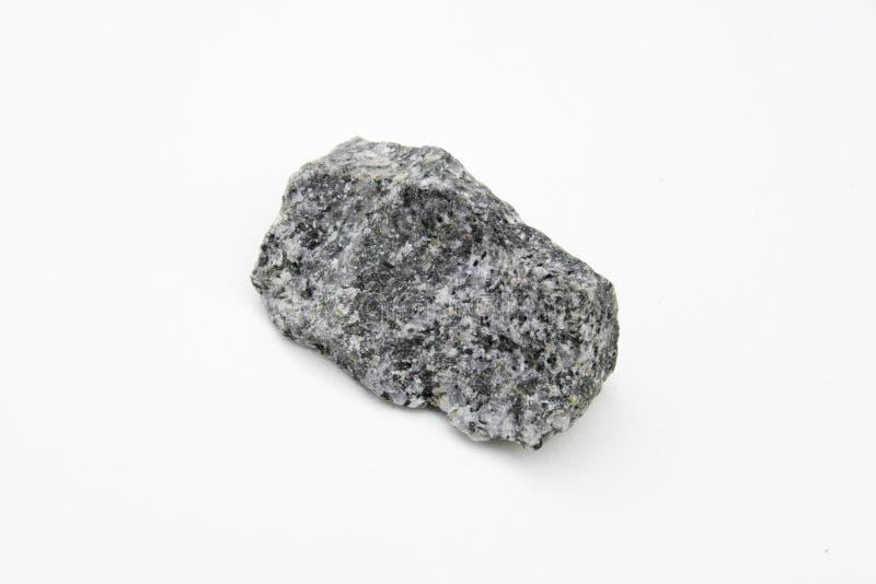 Quarz Dioritestein lokalisiert über Weiß lizenzfreie stockfotografie