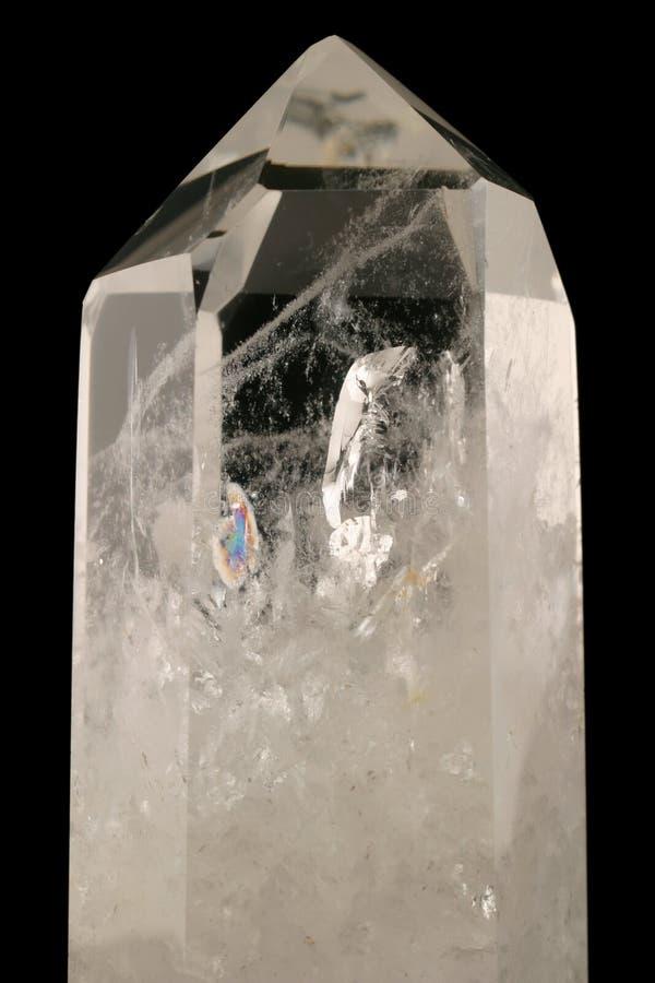Quarz-Kristall stockbild