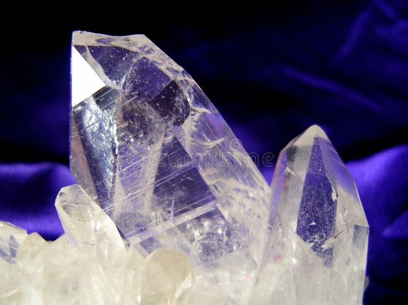 Quarz-Kristall stockfotos