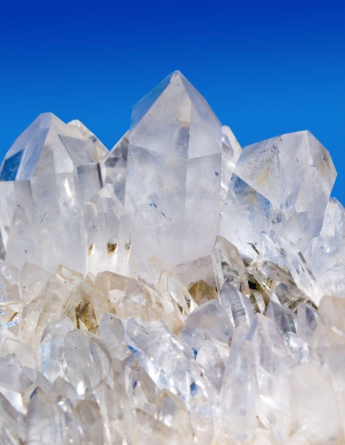 Quarz-Kristalle stockbilder
