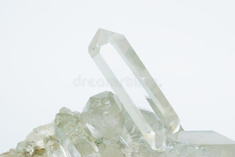 Quarzkristalle lizenzfreies stockbild