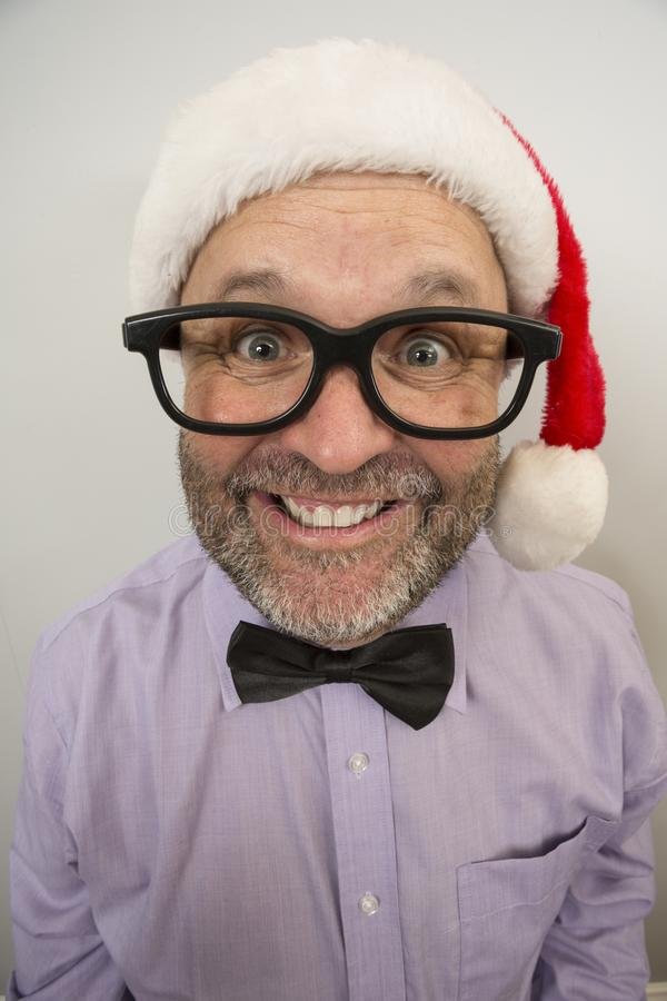 Quase aqui expressões do Natal fotografia de stock