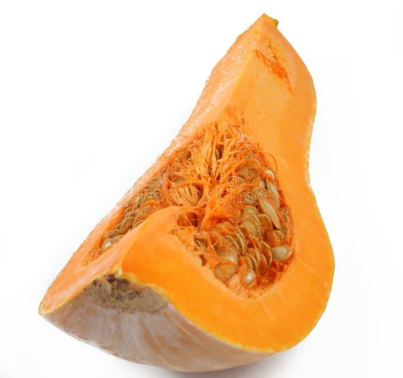 Quater of butternut pumpkin stock photo