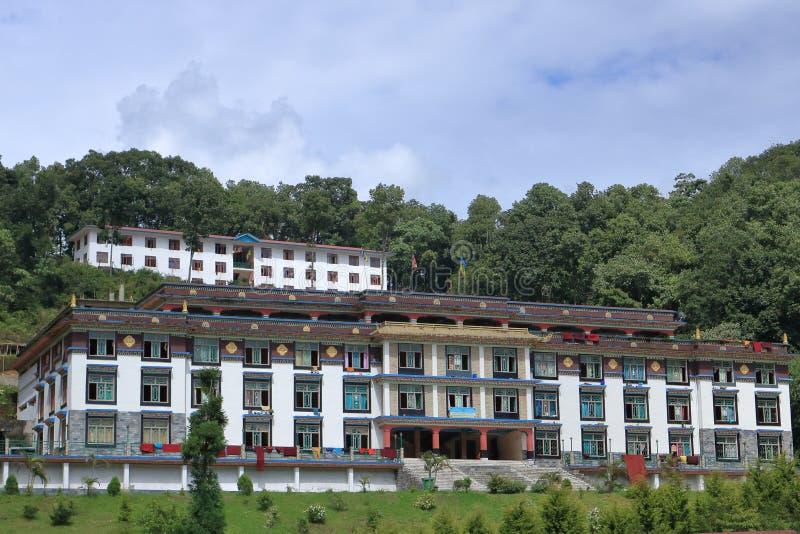 Quater vivente nel monastero ranka a Sikkim, India fotografie stock libere da diritti