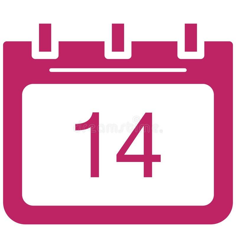 Quatorze, quatorze ícones do vetor do dia do evento especial que pode facilmente ser alterado ou editado ilustração do vetor