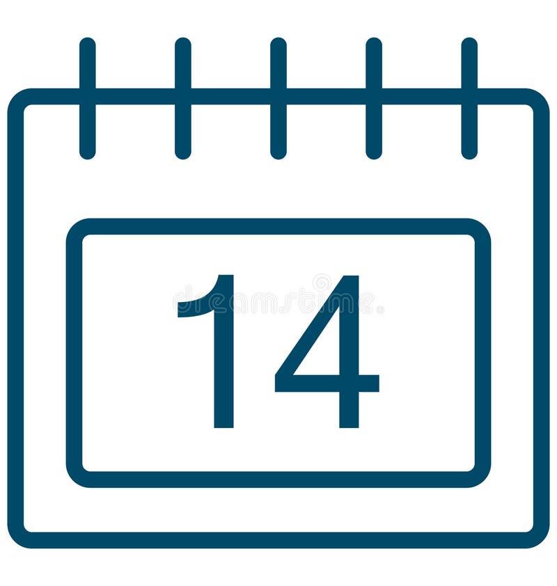 Quatorze, quatorze ícones do vetor do dia do evento especial que pode facilmente ser alterado ou editado ilustração stock