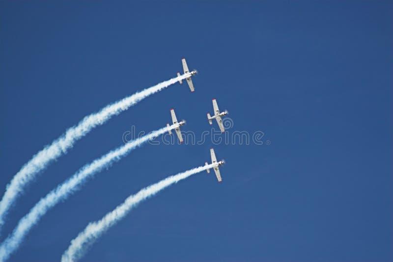 Quatre avions images libres de droits