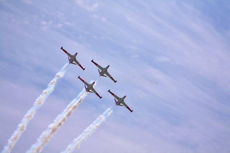 quatre avions magnifiques photo stock