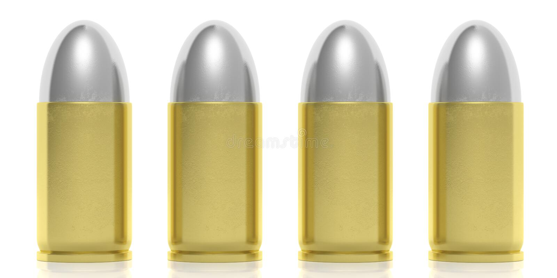 Quatre balles d'isolement sur le fond blanc illustartion 3d illustration libre de droits