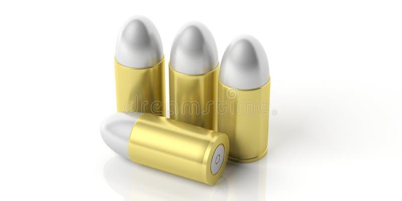 Quatre balles d'isolement sur le fond blanc illustartion 3d illustration stock