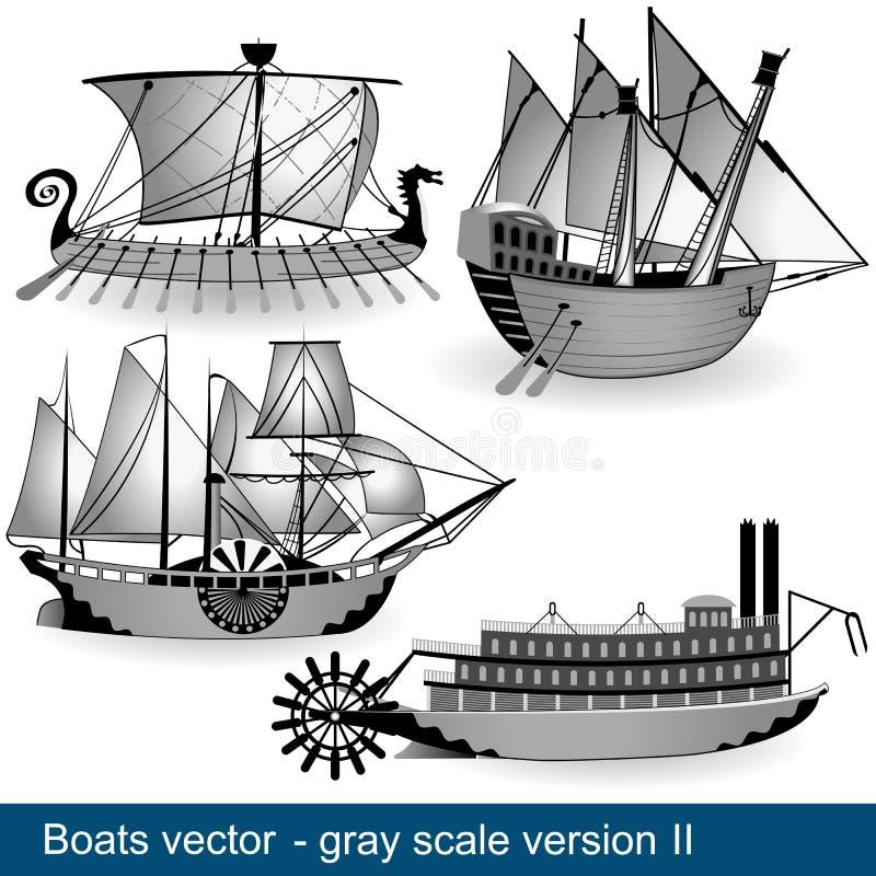 Quatre bateaux 2 illustration de vecteur