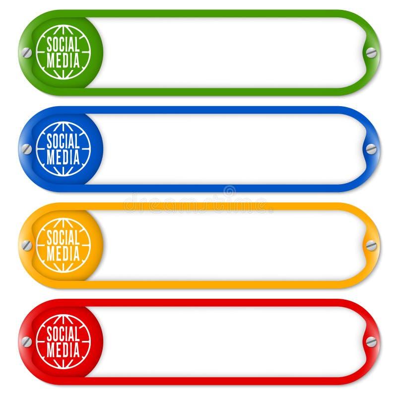 Quatre boutons illustration de vecteur