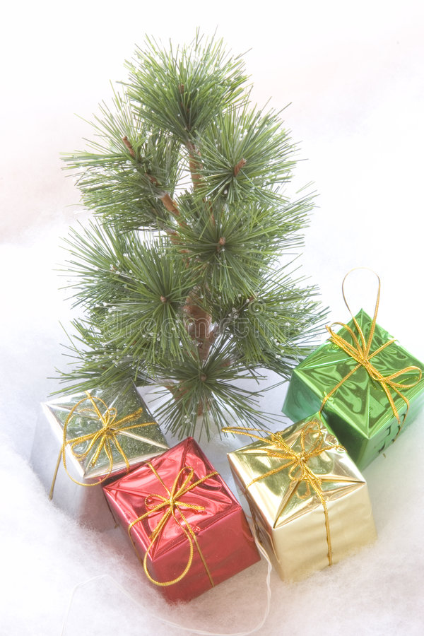 Quatre cadeaux photo libre de droits