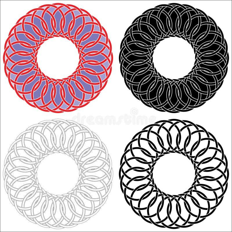 Quatre cercles celtiques images stock