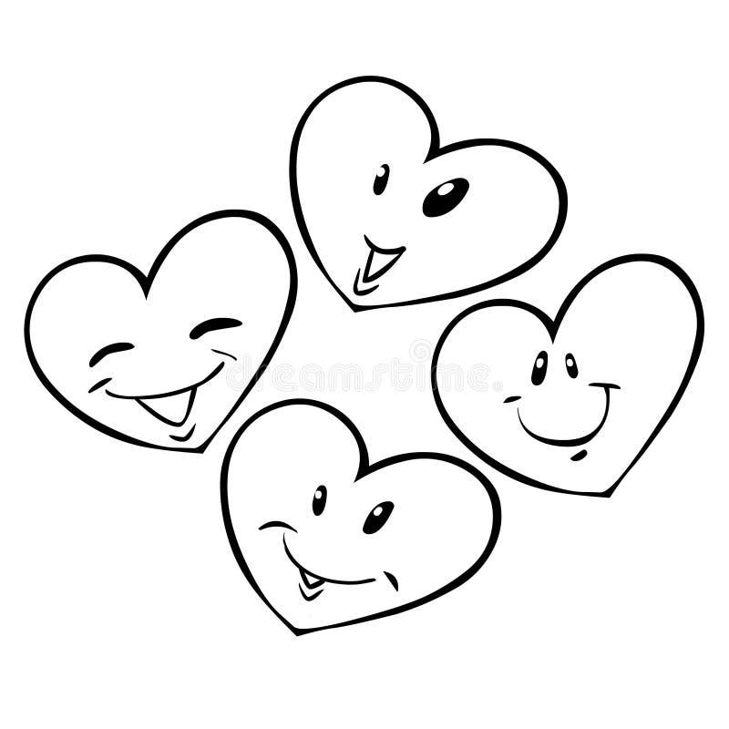 quatre coeurs illustration libre de droits
