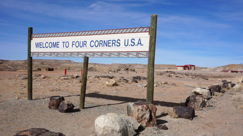 Quatre coins, Etats-Unis image libre de droits