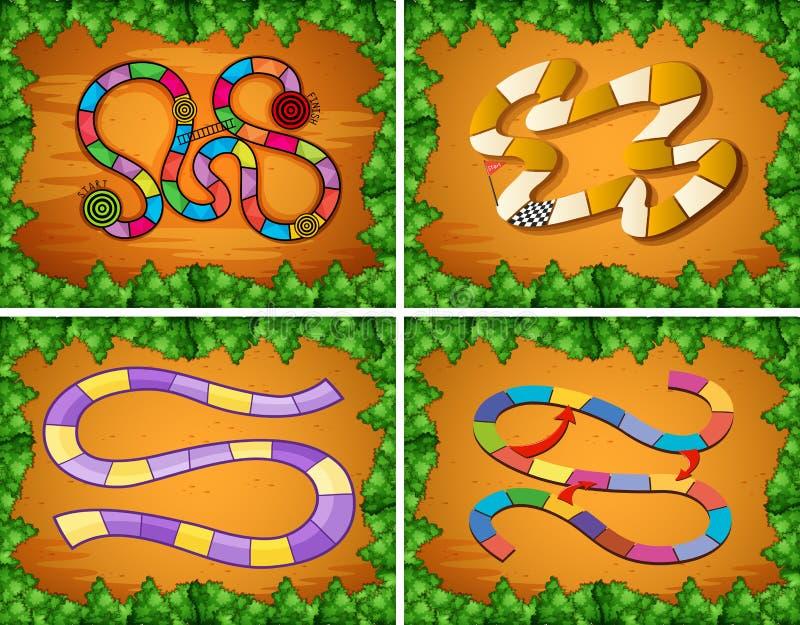 Quatre conceptions de calibre de jeu illustration libre de droits