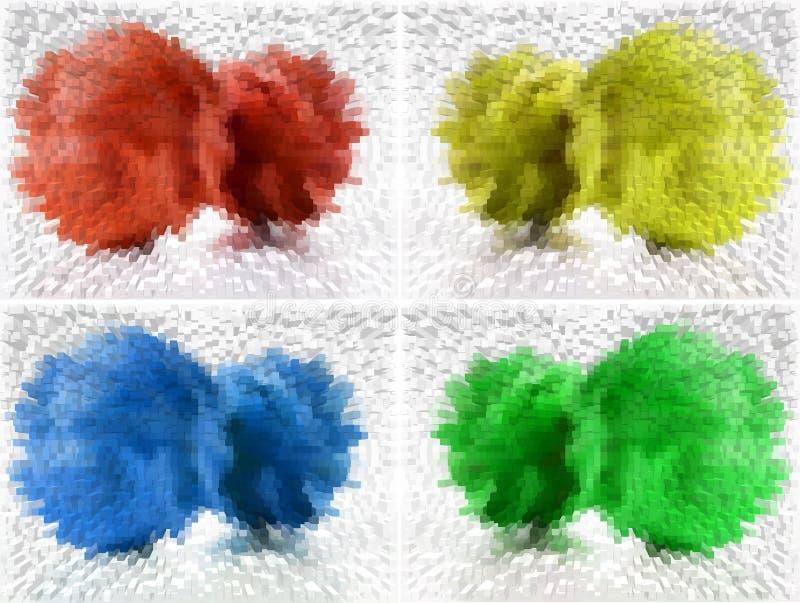 Quatre couleurs abrègent le fond illustration stock