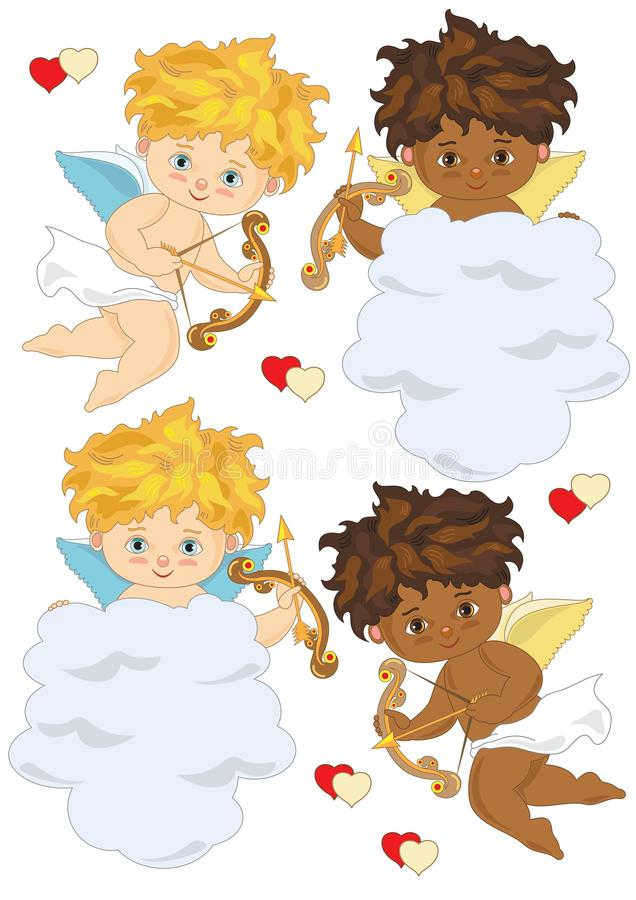 Quatre cupidons illustration stock