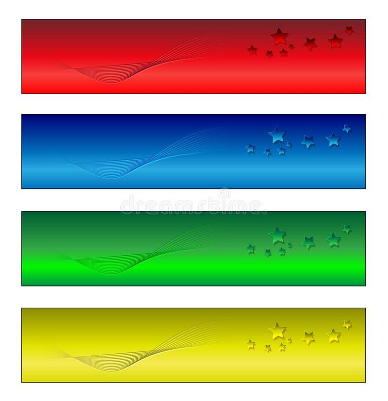 Quatre drapeaux illustration libre de droits