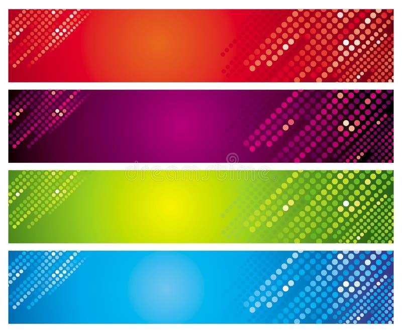 Quatre drapeaux multicolores illustration libre de droits